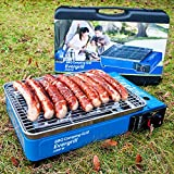 Angel Domäne Butangas Camping Grill Evergrill mit Transportkoffer | Gasgrill BBQ Barbeque Tischgrill Butangas